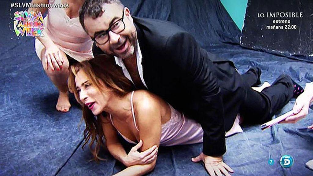 Así se hizo la portada de María Patiño, Mila Ximénez y Jorge Javier Vázquez