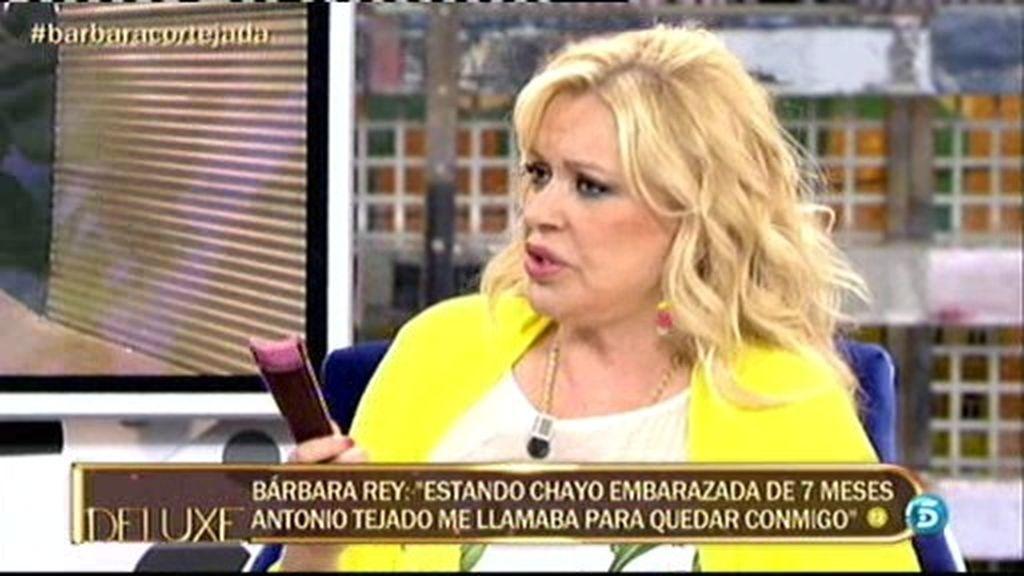 """Bárbara Rey: """"Estando Chayo embarazada de 7 meses me llamó Antonio para verme"""""""