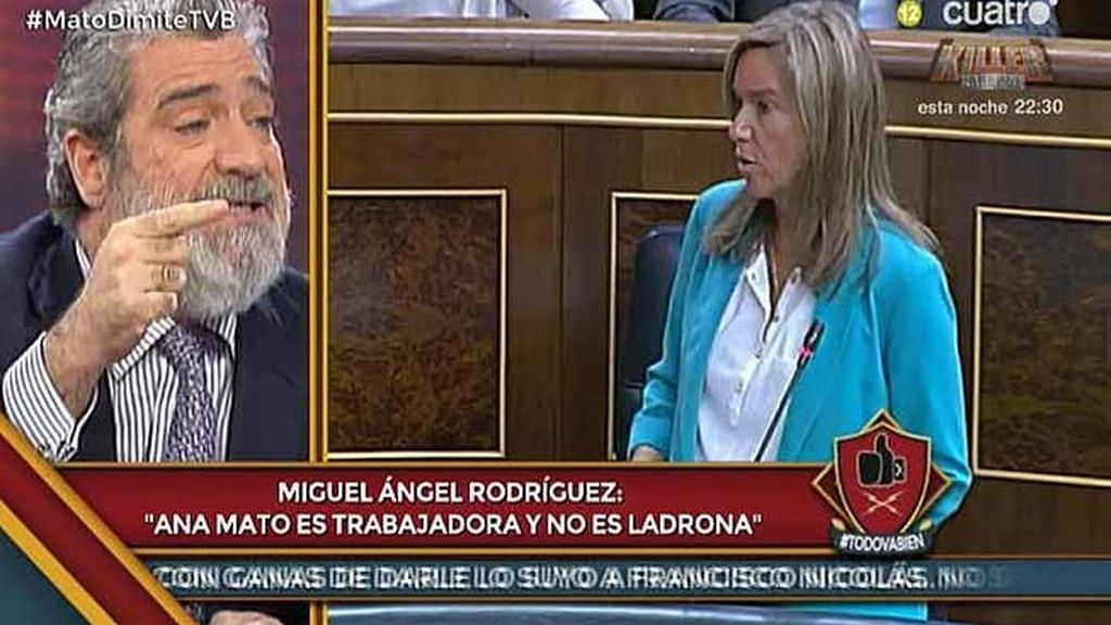 """M.A. Rodríguez: """"Pongo la mano en el fuego por Ana Mato, no es una ladrona"""""""