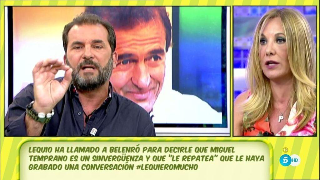 Belén Ro defiende a Lequio ante Miguel Temprano y la conversación que grabó