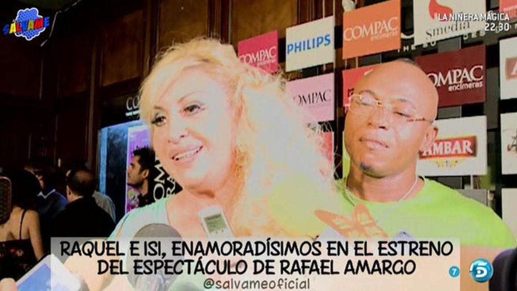 Primera aparición pública de Raquel Mosquera con su novio Isi