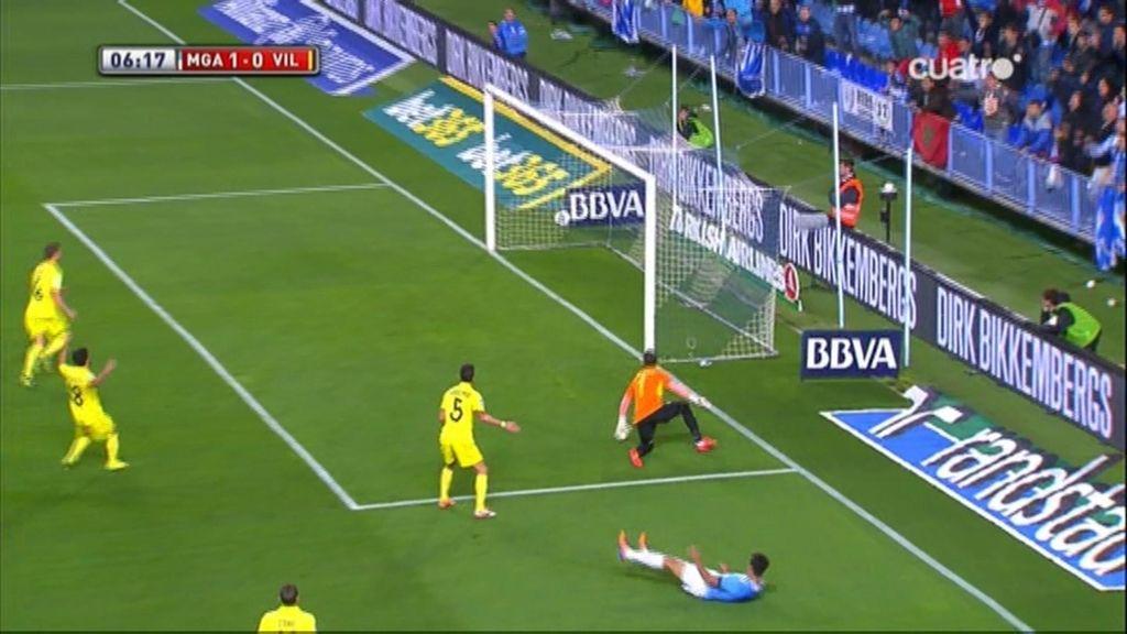 Gol de Santa Cruz (Málaga 1-0 Villarreal)