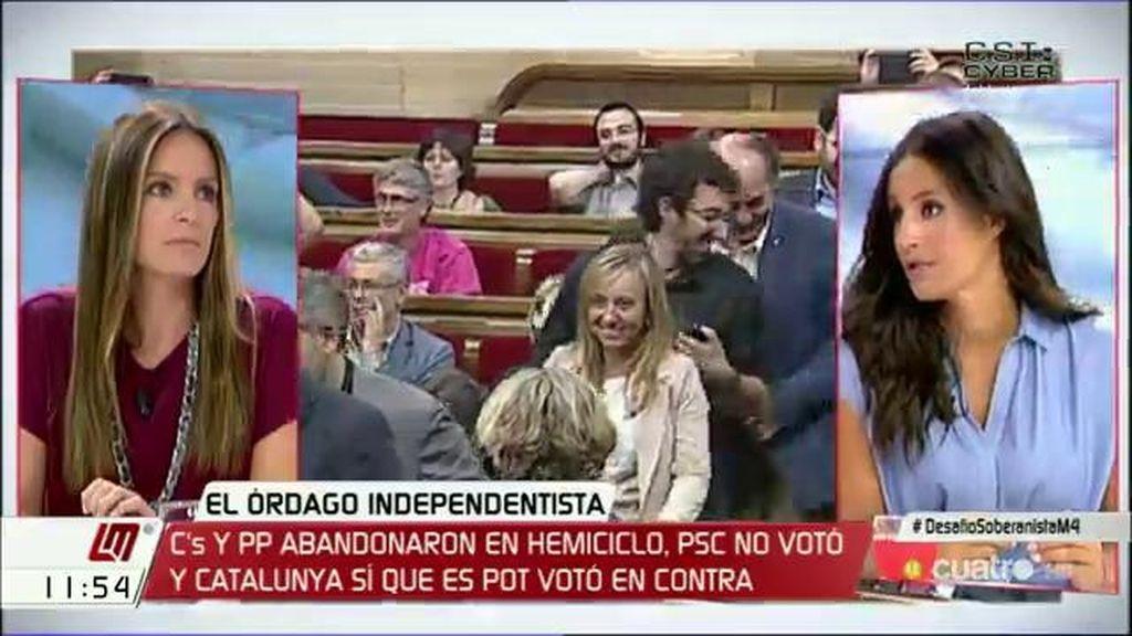 """B. Villacís, sobre el órdago independentista: """"Fue un día triste para la democracia"""""""