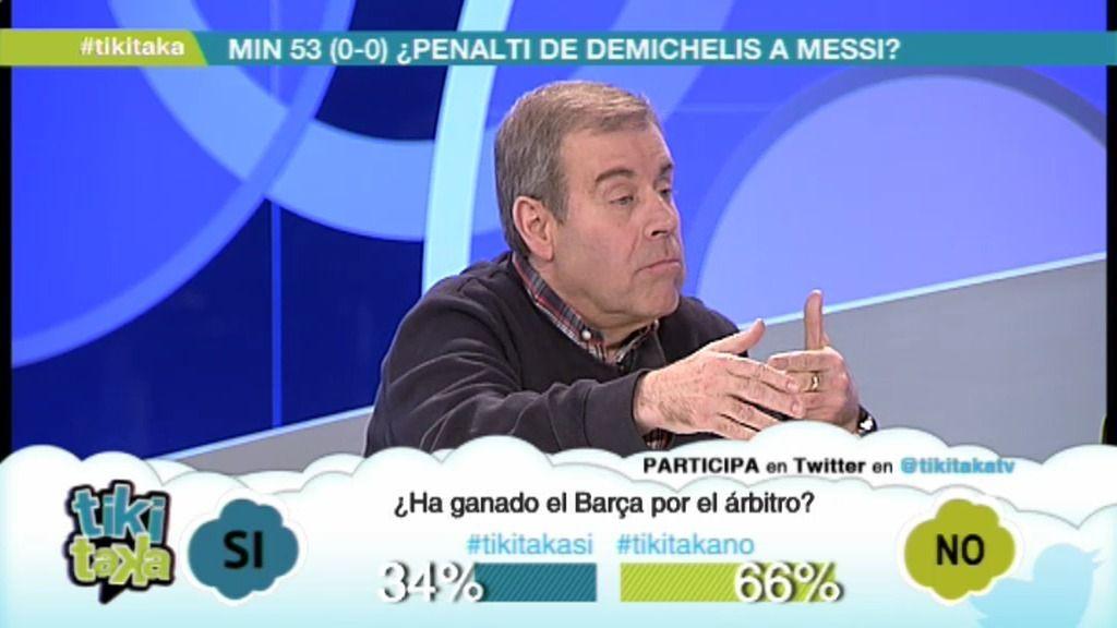 "Guash: ""Si le pitan ese penalti al Barça contra el Madrid, proclaman la independencia"""