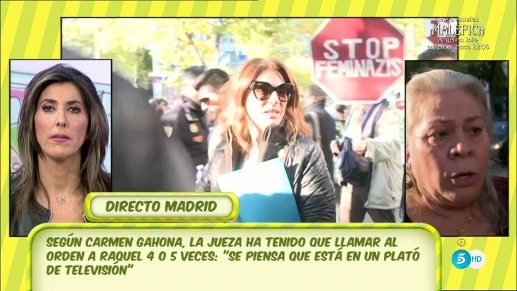 """Gahona, del juicio de Chiquetete: """"Le han llamado cinco veces al orden a Raquel"""""""