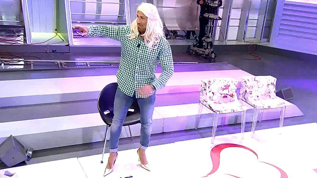 Rafa Mora, con peluca y tacones… ¡IMPRESIONANTE!