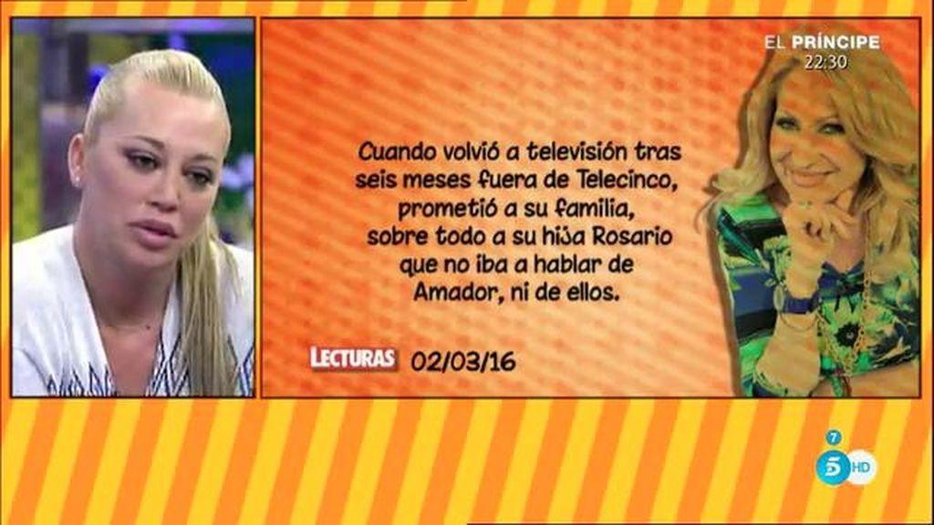"""""""Rosa está obsesionada con Belén"""", según la revista 'Lecturas'"""