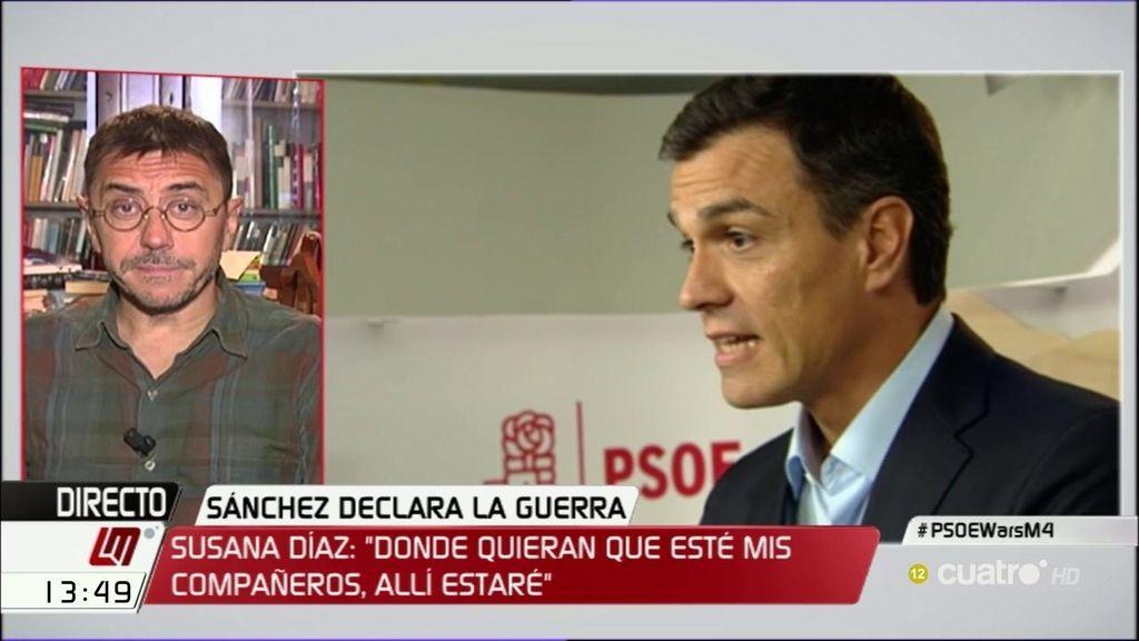 """Monedero: """"Creo Sánchez se está convirtiendo en un tránsfuga de su partido"""""""