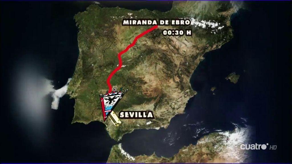 200 aficionados del Mirandés soñarán con su equipo en Sevilla