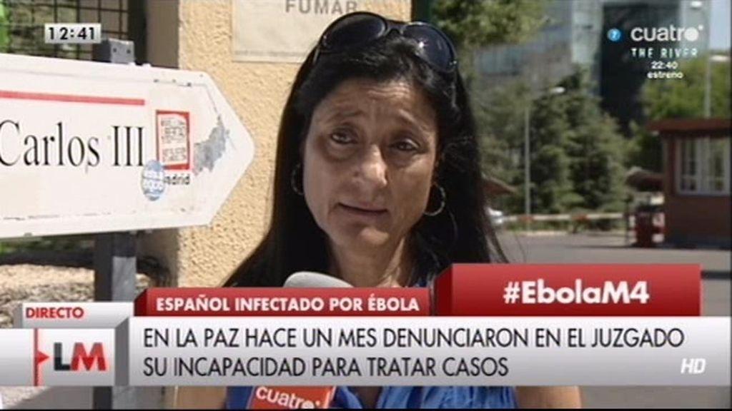 """Victoria Trujillo: """"Los enfermeros no están entrenados para tratar el ébola"""""""