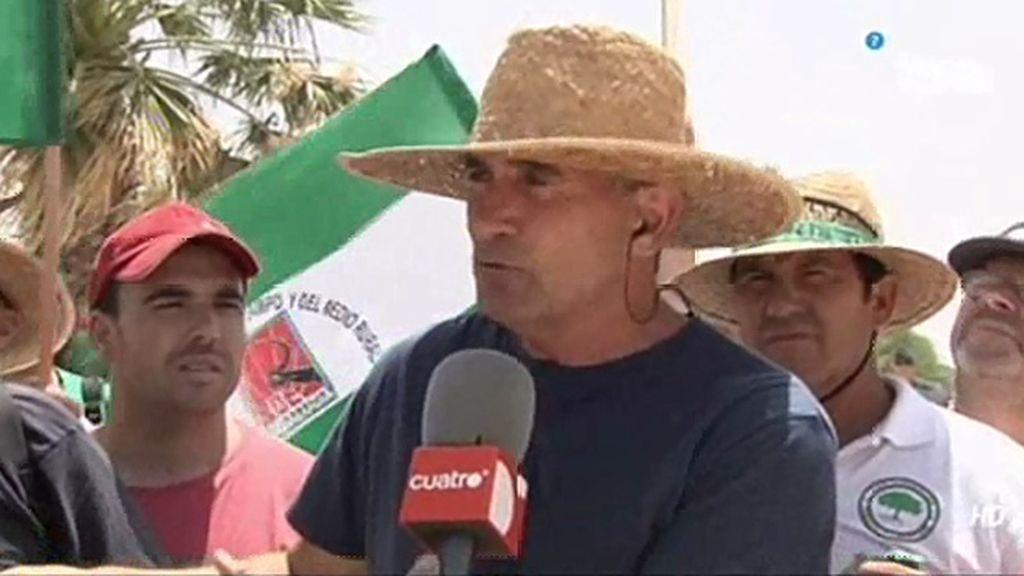 Diego Cañamero y el SAT ocupan la finca militar de 'Las Turquillas'