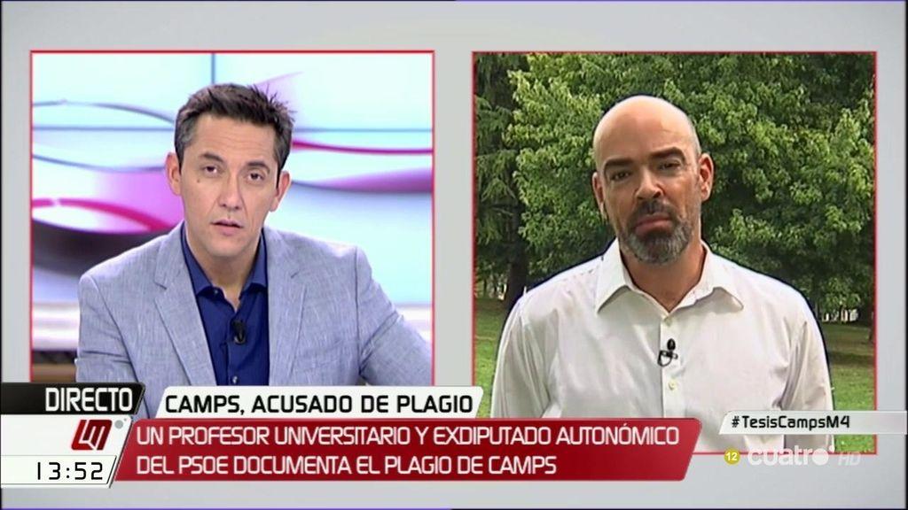 Camps anuncia una querella por injurias y calumnias contra el denunciante de plagio