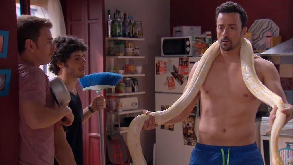 Alberto se muda al edificio de Lucía con su mascota: la serpiente Paca