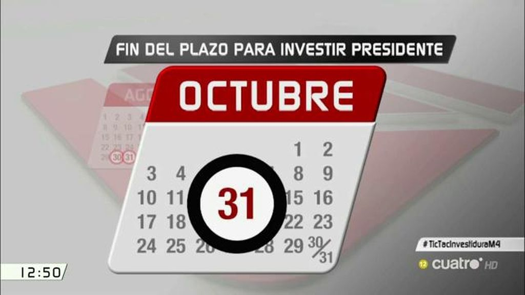 El calendario a partir del 30 de agosto