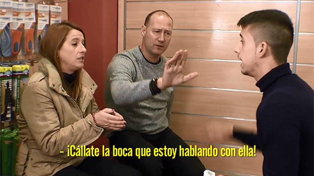 """Eduardo, a Pedro García Aguado: """"Cállate la boca, no te pongas delante de mí"""""""