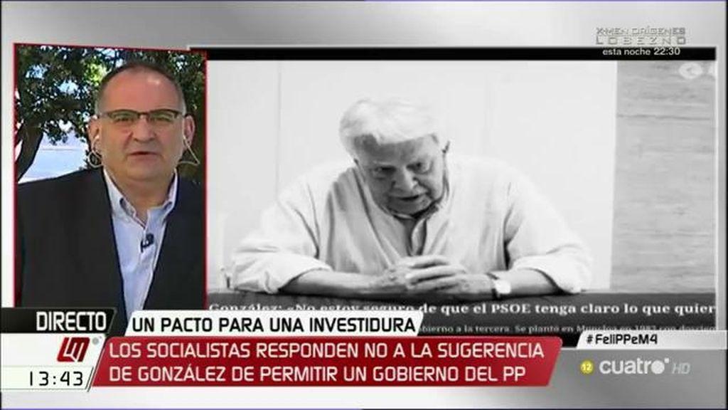 """""""El PSOE sabe lo que quiere, pero tiene un precio y no sabe si está dispuesto a pagarlo"""""""