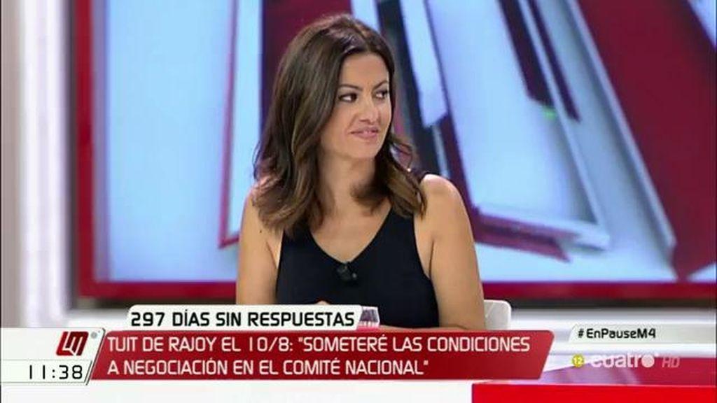 """S. Rego: """"Rajoy denota incapacidad tanto de él mismo como de su partido para dialogar"""""""