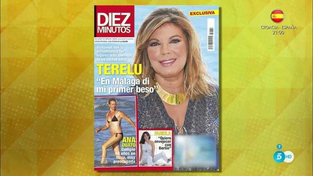 """Terelu Campos en 'Diez Minutos': """"En Málaga di mi primer beso"""""""