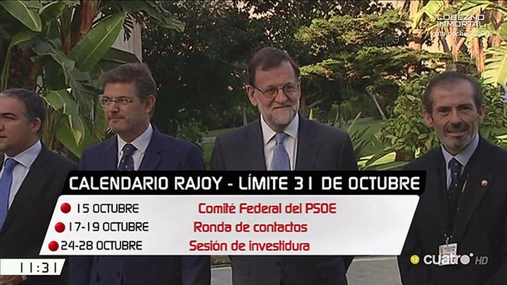 El futuro de Mariano Rajoy, en manos del próximo Comité Federal del PSOE