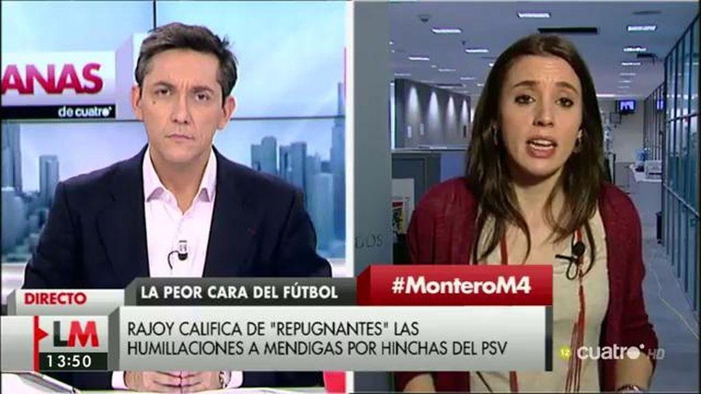 La entrevista de I. Montero, a la carta
