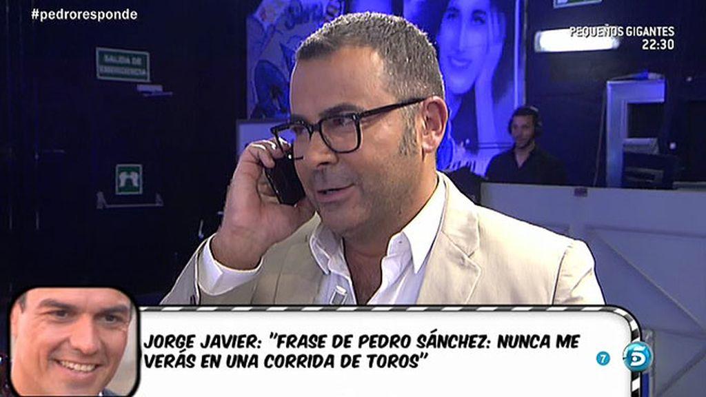Jorge Javier Vázquez habla con Pedro Sánchez sobre el 'Toro de la Vega'
