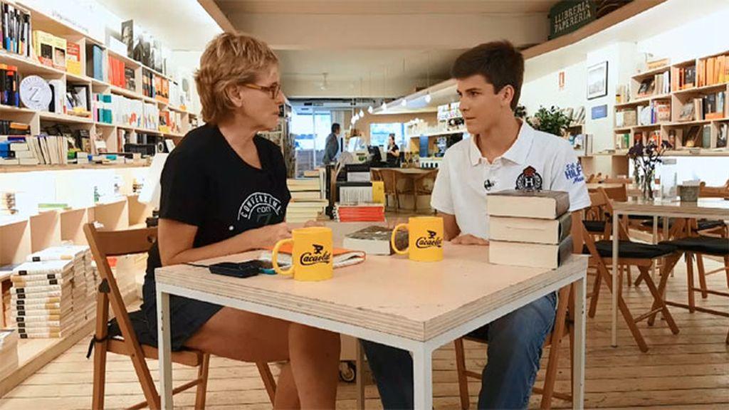 """Xavi devora libros con 15 años: """"Con 'Escipión' me quedé con ganas de más"""""""