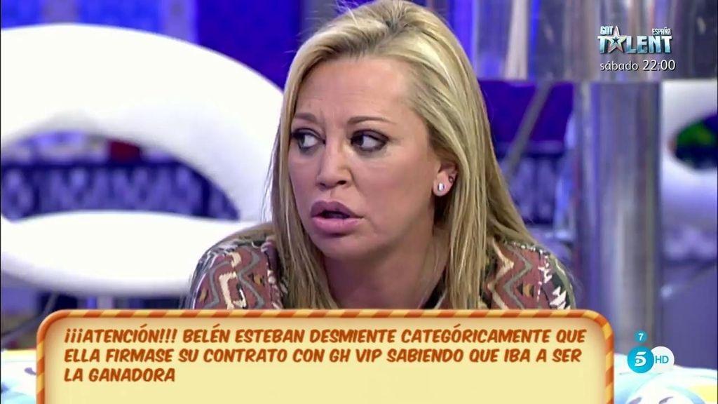 """Belén Esteban: """"Yo firmé que iba a concursar, no firmé que era la ganadora de 'GH VIP"""""""