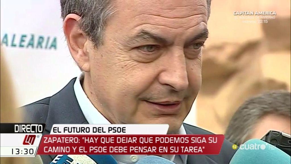 """Rodríguez Zapatero: """"Sería conveniente actualizar la relación del PSOE con el PSC"""""""