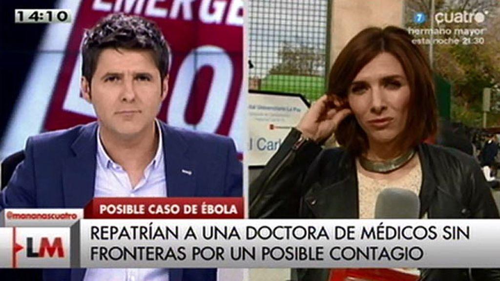 Repatriada una doctora de 'Médicos sin fronteras' por un posible contagio de ébola