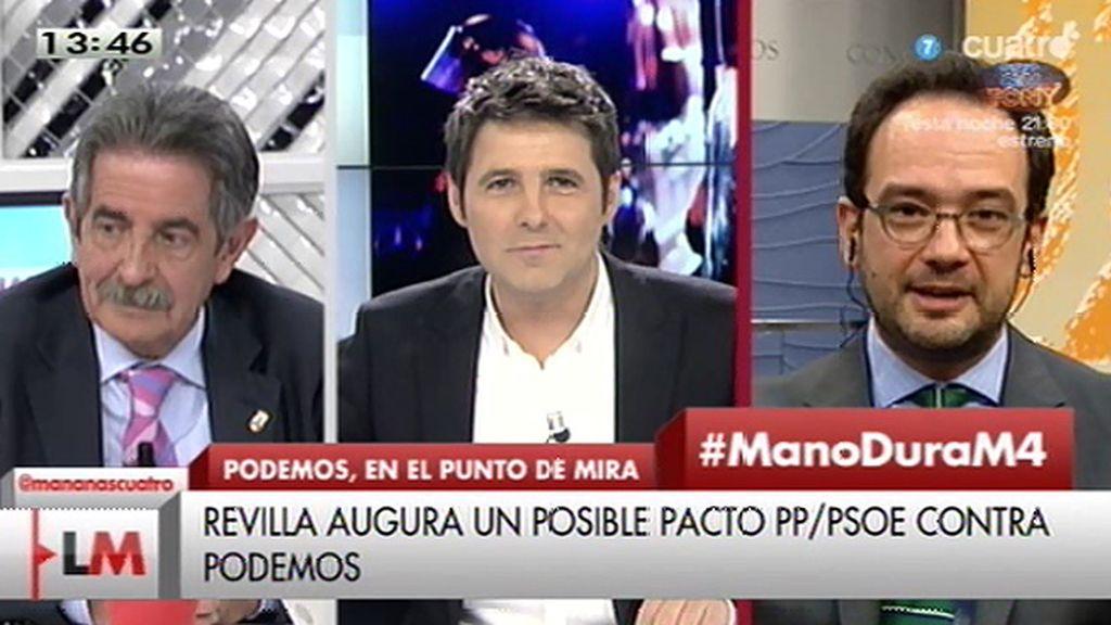 """A. Hernando: """"El PP y PSOE somos como el agua y el aceite"""""""