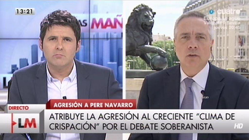 """Pere Navarro: """"Hay personas que quieren convertir al agredido en sospechoso"""""""
