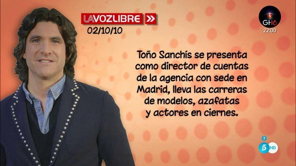 ¿Cómo empezó Toño Sanchís en el mundo de la representación?