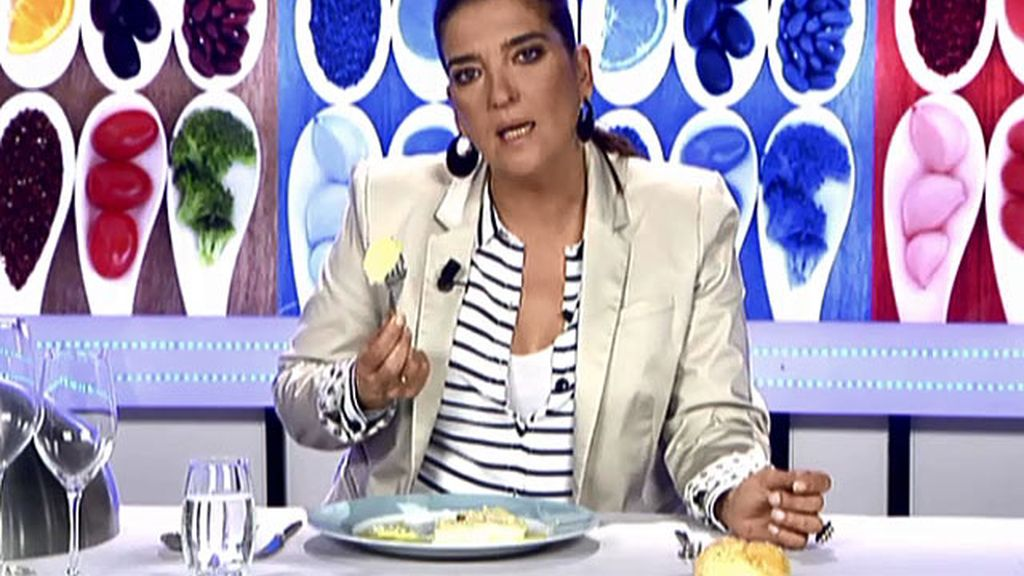 María Jiménez Latorre no entiende qué hacen las patatas con los canelones