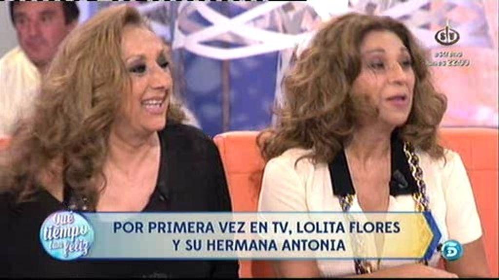 Lolita y su hermana Antonia, ¡por primera vez juntas en un plató de televisión!