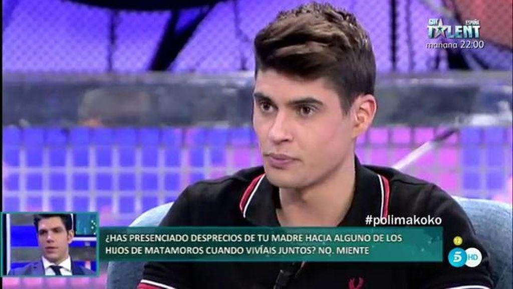 Javier Tudela ha presenciado desprecios de su madre a los hijos de Matamoros