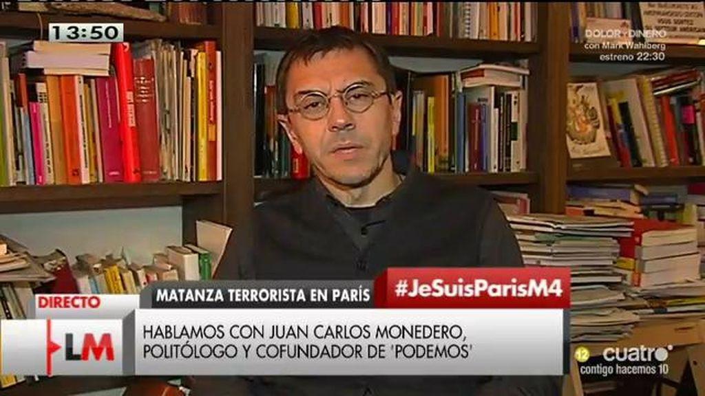 """Monedero: """"España no puede ser hipócrita. No podemos vender armas a Arabia Saudí y luego decir que hay que solventar el asunto"""""""