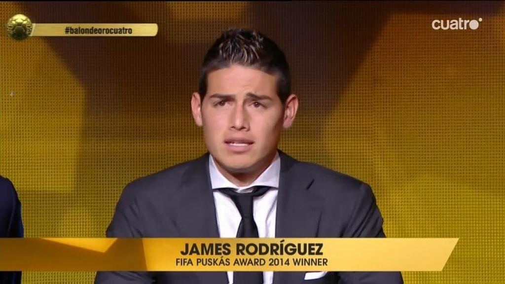 El zapatazo mundialista de James Rodríguez gana el Premio Puskas al mejor gol de 2014
