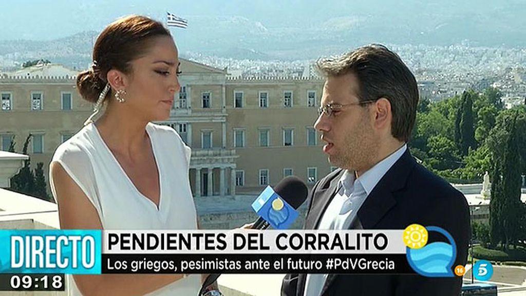 """Andreas, abogado griego: """"Habrá acuerdo porque si Grecia cambia de moneda, el contagio será inevitable"""""""