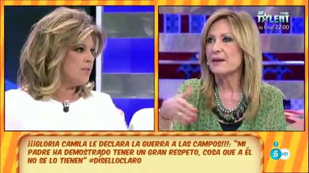 """Rosa Benito: """"Me choca que Teresa Campos haga un corte de manga a Ortega Cano"""""""