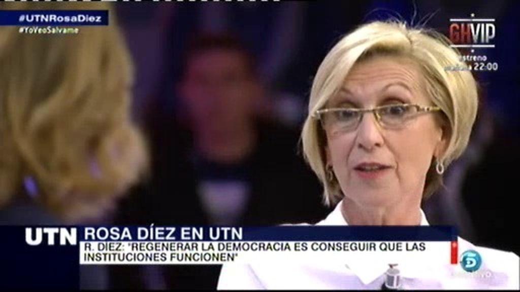 """Rosa Díez: """"Somos un partido que rinde cuentas con los afiliados anualmente"""""""