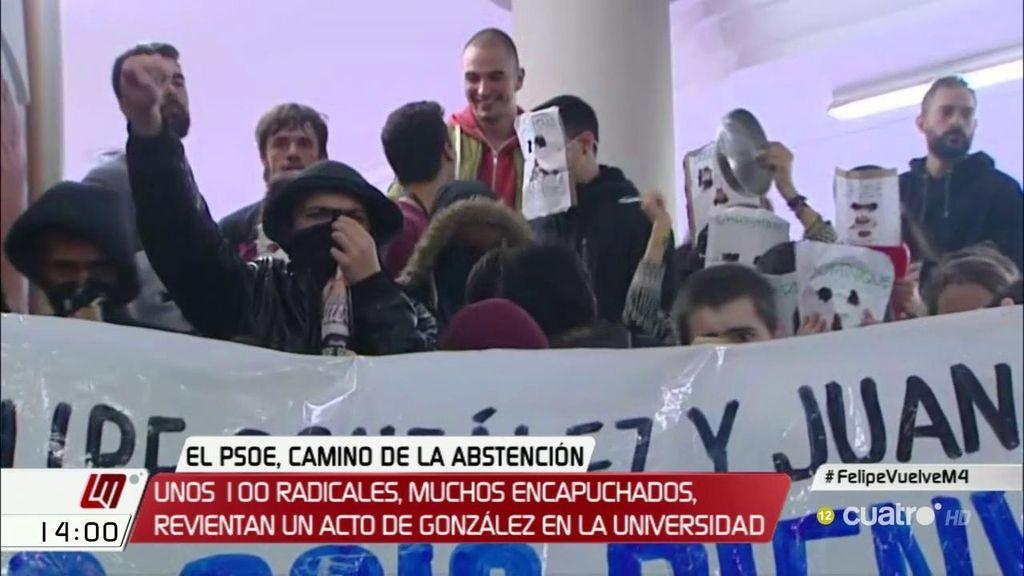 Se suspende la conferencia de Felipe González en la UAM tras una protesta
