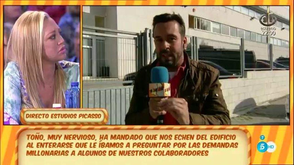 """Belén Esteban, a Toño Sanchís: """"¿A qué tienes miedo?"""""""