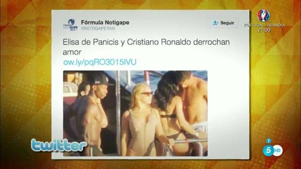 Elisa de Panicis, pillada en el yate de Cristiano Ronaldo
