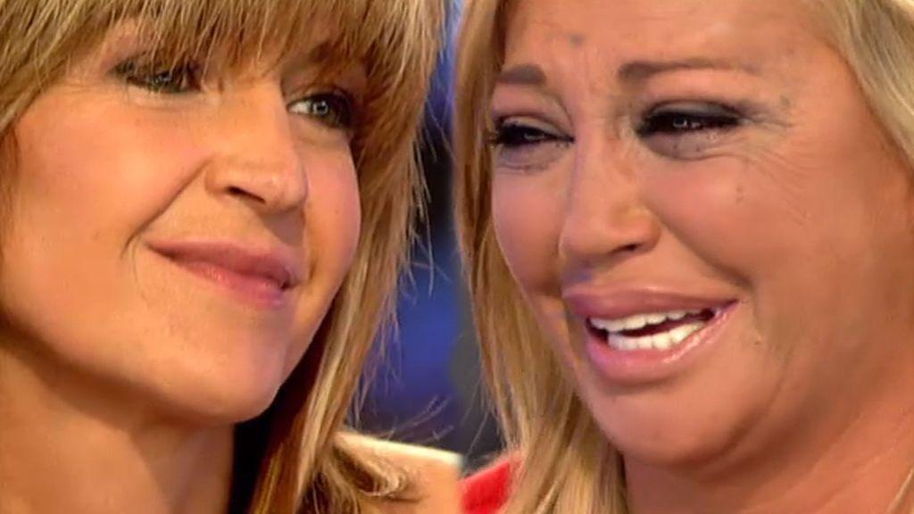 """Belén, sorprendida por su amiga Mari Paz: """"Me hace mucha ilusión que hayas venido"""""""