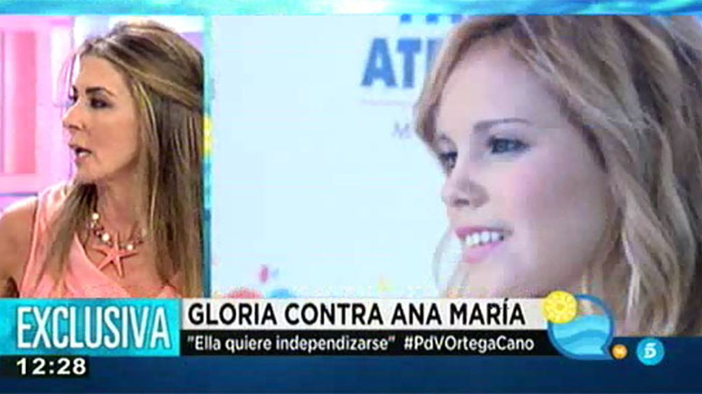 Gloria Camila podría independizarse por su difícil relación con Ana María Aldón