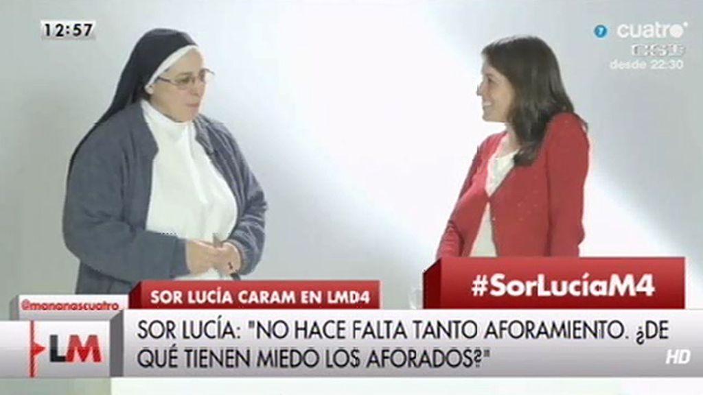 Sor Lucía Caram anima a ayudar en una 'cena solidaria virtual' dando 20€ de ayuda