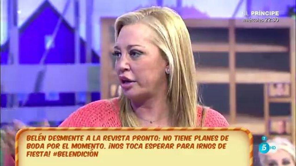 """Belén Esteban: """"No me caso, si yo me casara haría una boda de las gordas"""""""