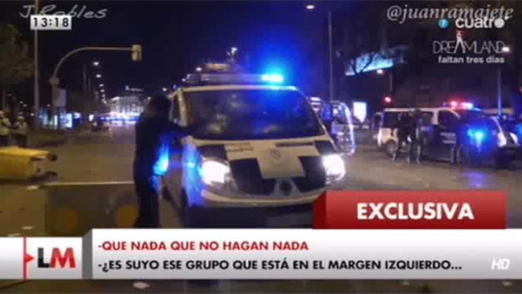 Exclusiva: El audio con las órdenes recibidas por la policía en los altercados tras el 22-M