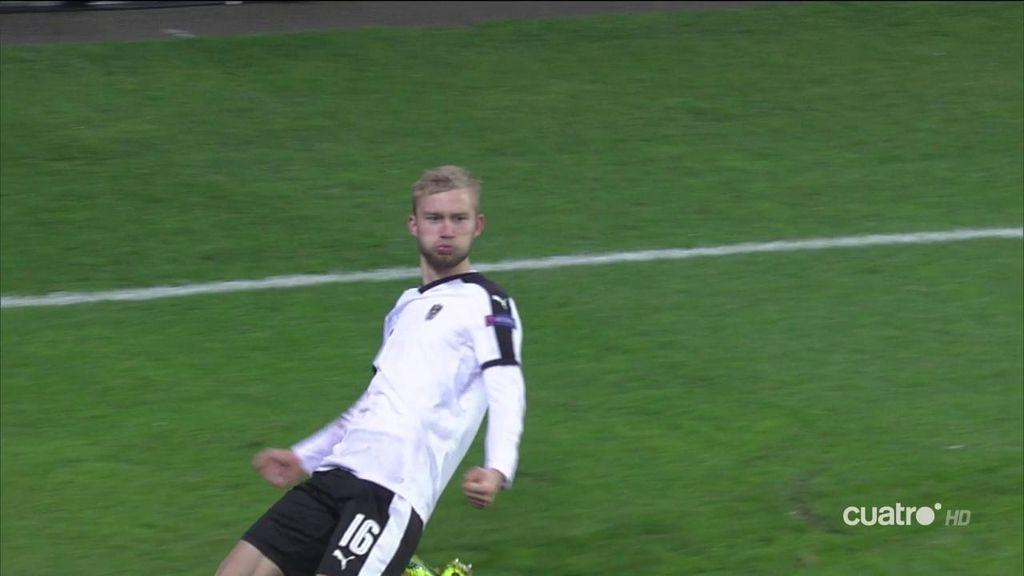 ¡Gol en propia puerta! Jony marca tras un mal despeje y Austria empata  (1-1)
