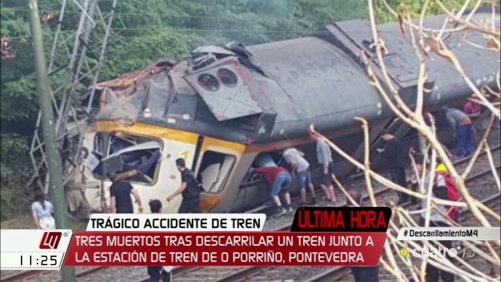 Cuatro muertos y decenas de heridos en un accidente de tren en O Porriño